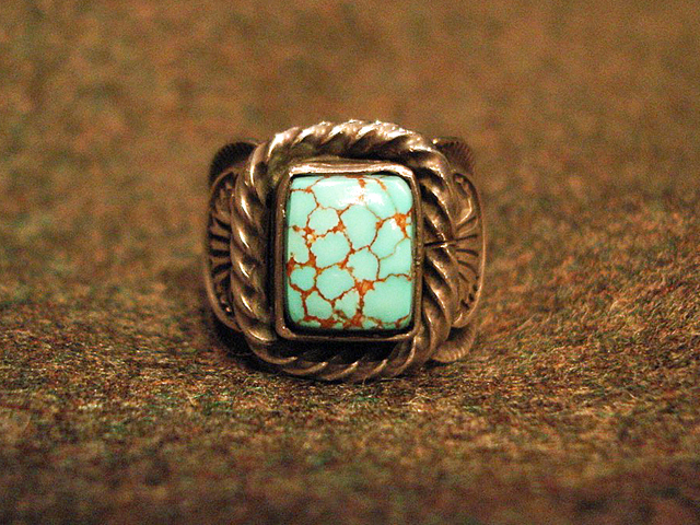 """NEW : [Navajo Turquoise Jewelry] """"NUNMER 8"""" & """"LONE MOUNTAIN"""" SILVER RING !!_a0132147_19384569.jpg"""