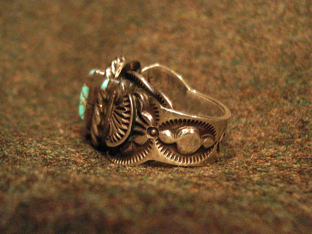 """NEW : [Navajo Turquoise Jewelry] """"NUNMER 8"""" & """"LONE MOUNTAIN"""" SILVER RING !!_a0132147_19385169.jpg"""