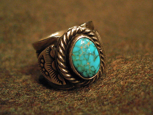 """NEW : [Navajo Turquoise Jewelry] """"NUNMER 8"""" & """"LONE MOUNTAIN"""" SILVER RING !!_a0132147_19385822.jpg"""