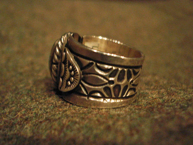 """NEW : [Navajo Turquoise Jewelry] """"NUNMER 8"""" & """"LONE MOUNTAIN"""" SILVER RING !!_a0132147_1939647.jpg"""