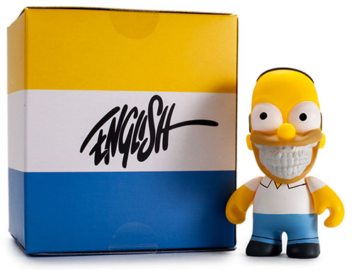 "The Simpsons- 3"" Grin Homer by Ron English_e0118156_1532991.jpg"