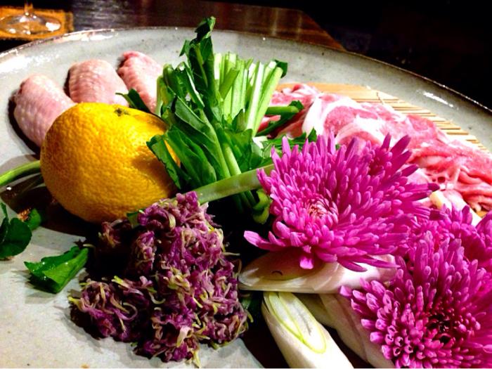 豚しゃぶはもってのほか(食用菊)を巻いて美味しく 菊花の包み_b0221506_18292279.jpg
