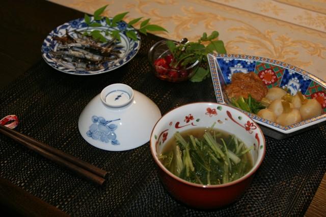 畑の 冬野菜で夕飯。_f0229190_15162416.jpg