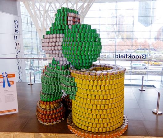缶詰アートのカンストラクション(Canstruction)2015_b0007805_23303661.jpg