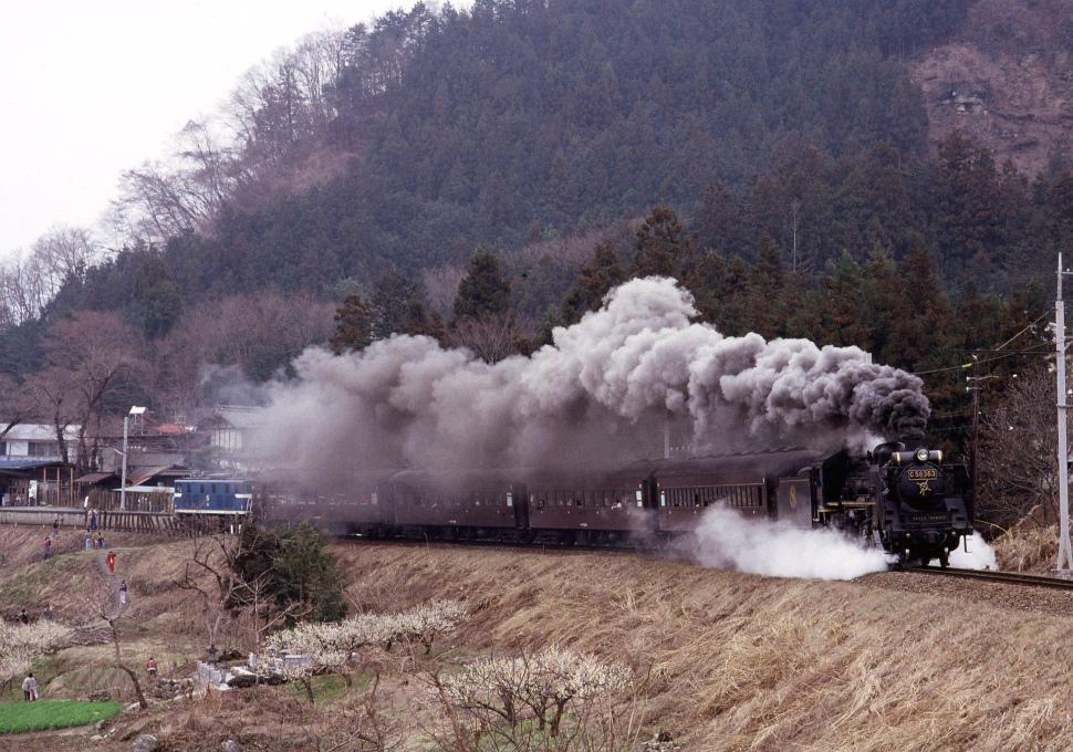 もこもこの煙と梅花と旧型客車の頃 - 秩父鉄道 -  _b0190710_2131930.jpg