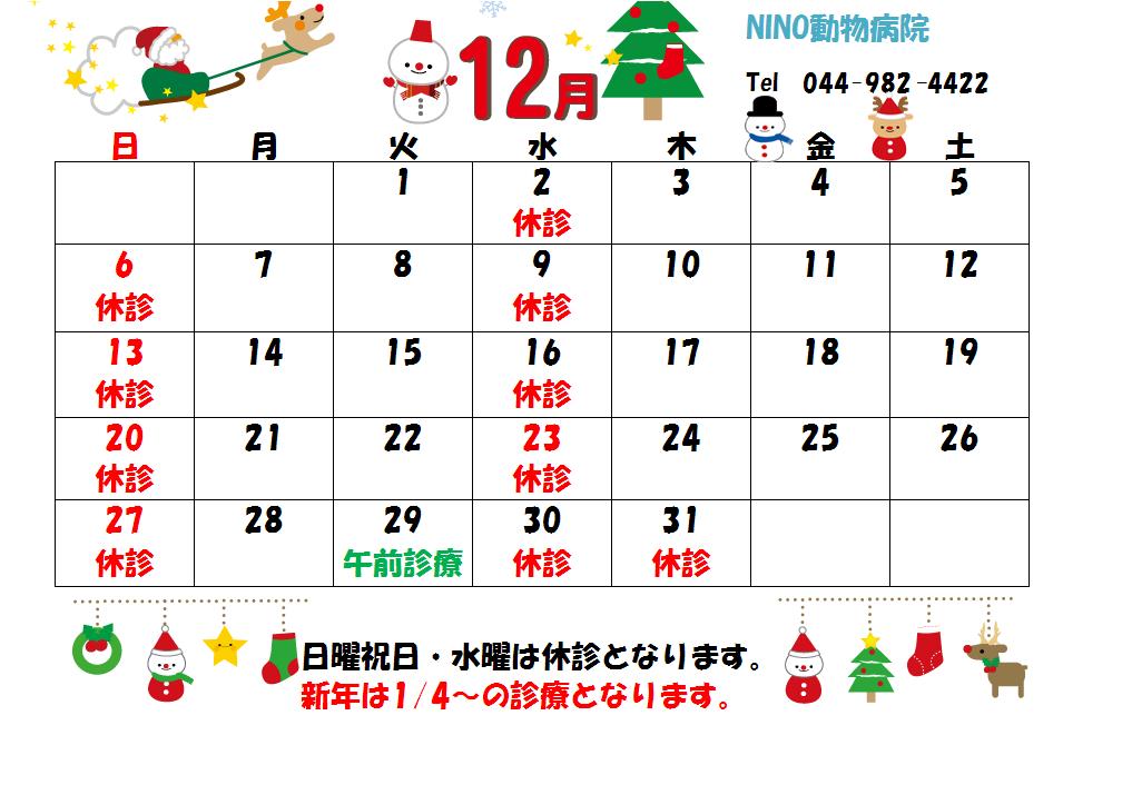 12月の診療日のお知らせ☆_e0288670_14514015.png