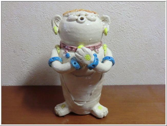 陶 芸 作 品 ( 呑鬼な香炉・・・五羅漢はん その4 )_b0104092_10582590.jpg