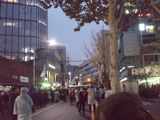 11月14日、ソウル市役所前からデモ行進_d0155415_18375387.jpg