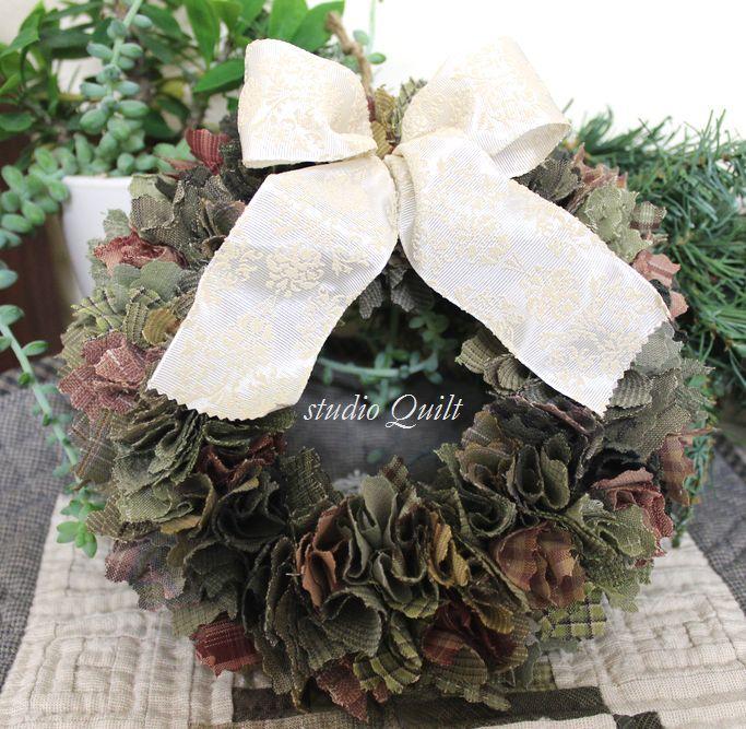 ナチュラルクリスマスリース♪♪_f0295063_16343038.jpg