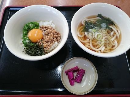 11/14 山田うどん八王子長沼店 納豆オクラ丼朝定食¥360_b0042308_09382.jpg