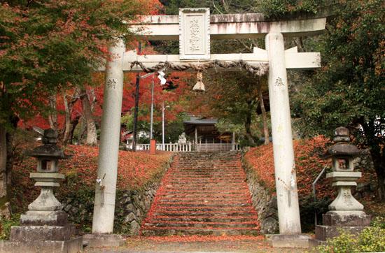 紅葉だより13 熊野神社と茅葺きの里_e0048413_18111789.jpg