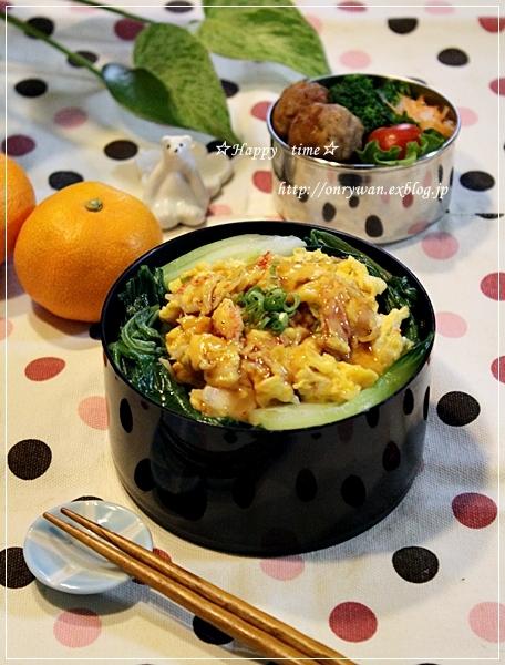 天津飯風丼弁当と今週の常備菜作り♪_f0348032_17570740.jpg