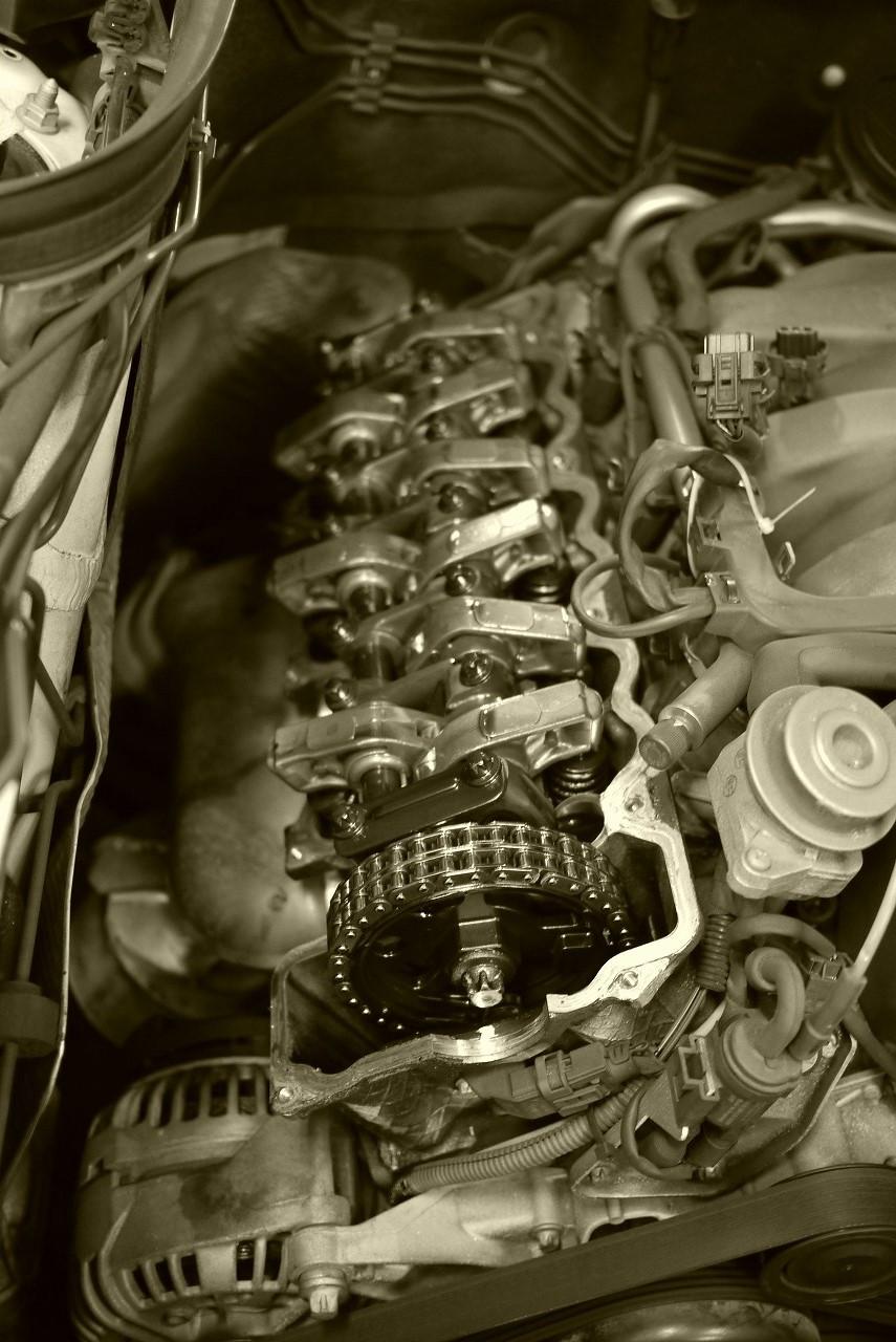 w211 エンジンマウント ミッションマウント タペットカバーパッキン 交換_d0171835_15164029.jpg