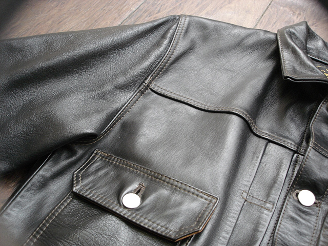 """NEW : HIGH LARGE LEATHERS [HORSEHIDE JACKET] """"Oklahoma City""""、""""Still Water"""" !!_a0132147_1810642.jpg"""