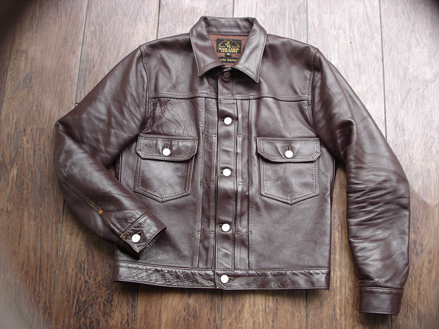 """NEW : HIGH LARGE LEATHERS [HORSEHIDE JACKET] """"Oklahoma City""""、""""Still Water"""" !!_a0132147_1883389.jpg"""