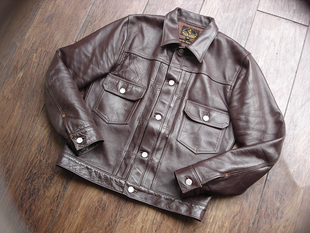 """NEW : HIGH LARGE LEATHERS [HORSEHIDE JACKET] """"Oklahoma City""""、""""Still Water"""" !!_a0132147_1884071.jpg"""