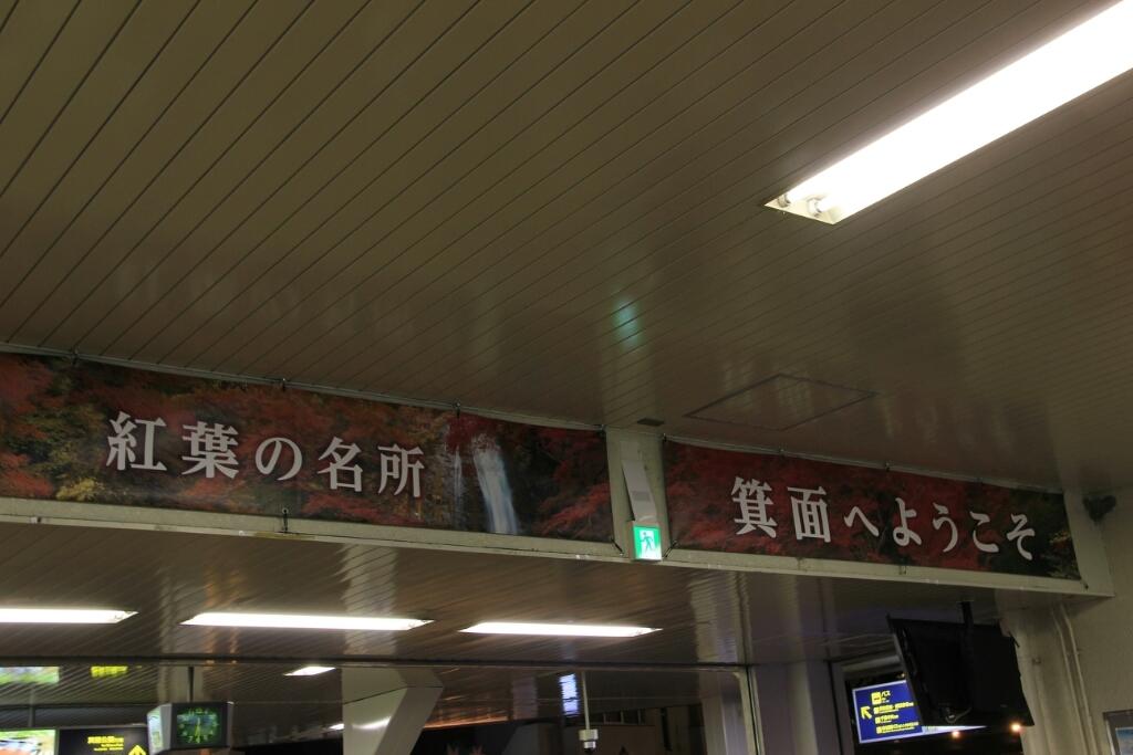 箕面駅でもみじ狩り_d0202264_19522591.jpg
