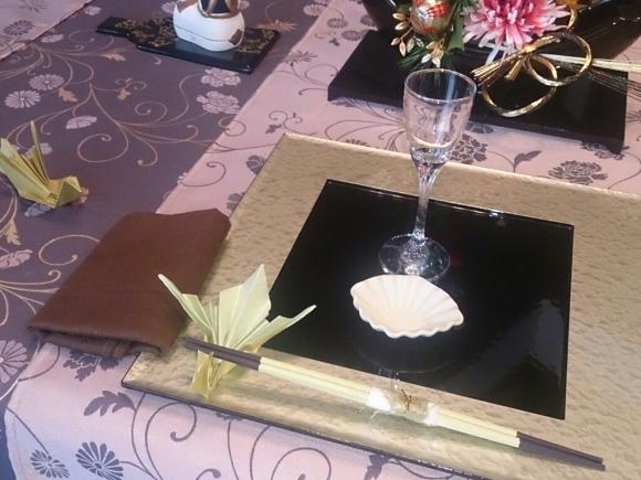 お正月の料理教室 鶴の箸置き_f0323446_23410977.jpg