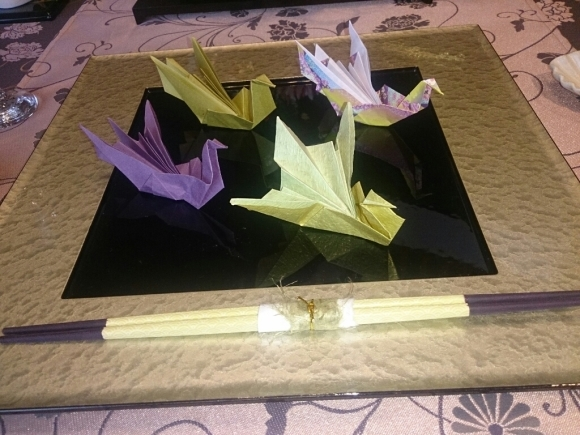 お正月の料理教室 鶴の箸置き_f0323446_23411369.jpg