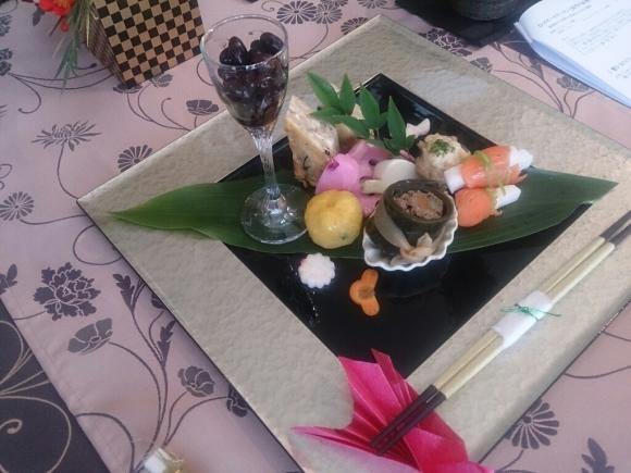 お正月の料理教室 鶴の箸置き_f0323446_23411549.jpg