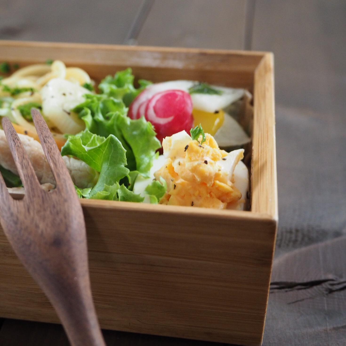 生姜豚の花麩パスタ弁当_c0270834_751482.jpg