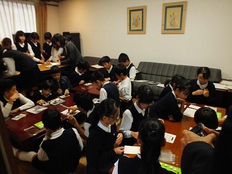 亀阜小学校6年生 伝統工芸授業_c0227958_1671811.jpg