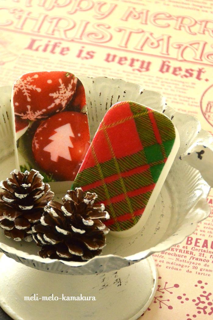 ◆デコパージュ*クリスマスのプチギフトに石けんはいかが?_f0251032_2322412.jpg