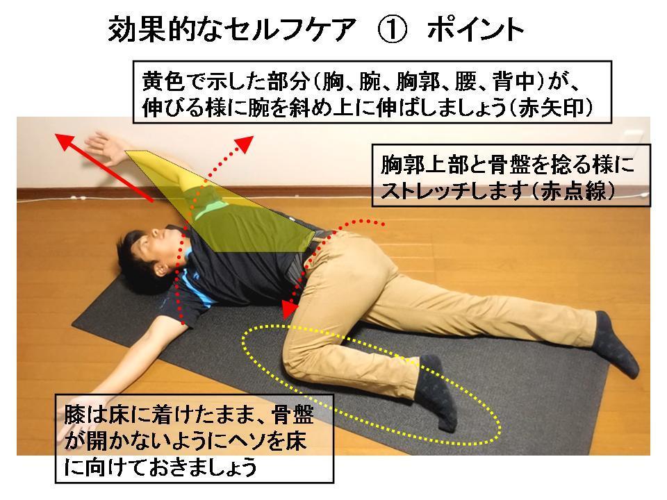 パフォーマンスを高めるストレッチ(肩こり・腰痛のケア)①_c0362789_22021051.jpg