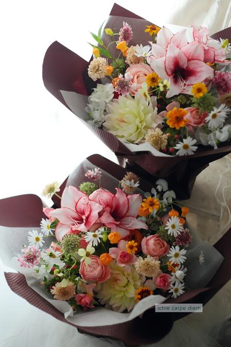 新郎新婦様からのメール パークハイアット東京様へ 挙式日翌日、ブーケとご両親への贈呈花 _a0042928_15243259.jpg