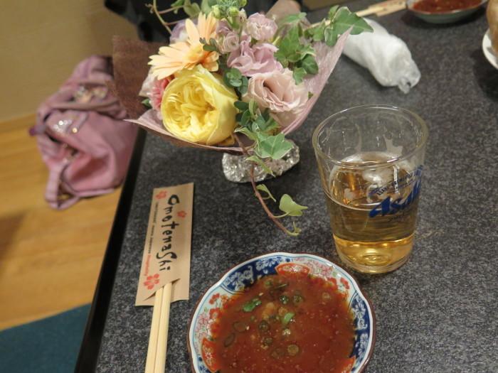 焼肉とお花_f0319441_12104071.jpg
