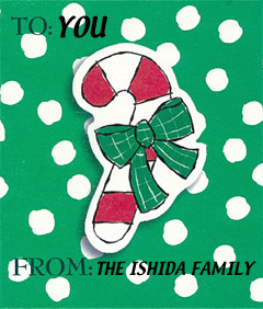クリスマスの大きめラベルをプレゼント!_d0225198_20451928.jpg