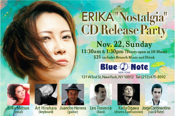 『Nostalgia』CDリリースJAPANツアー42箇所そして、ニューヨークブルーノートでのCDリリースParty_a0150139_1365678.jpg