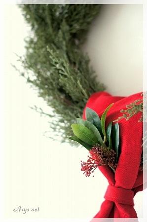シンプルなクリスマスリース_c0243369_1633913.jpg