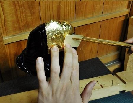 仏像に金箔を押すお仕事 2015.11.20_c0213599_00152691.jpg