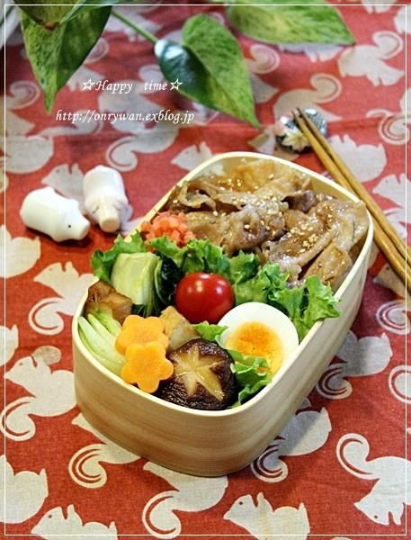 豚丼弁当と旬野菜で常備菜作り♪_f0348032_17421664.jpg
