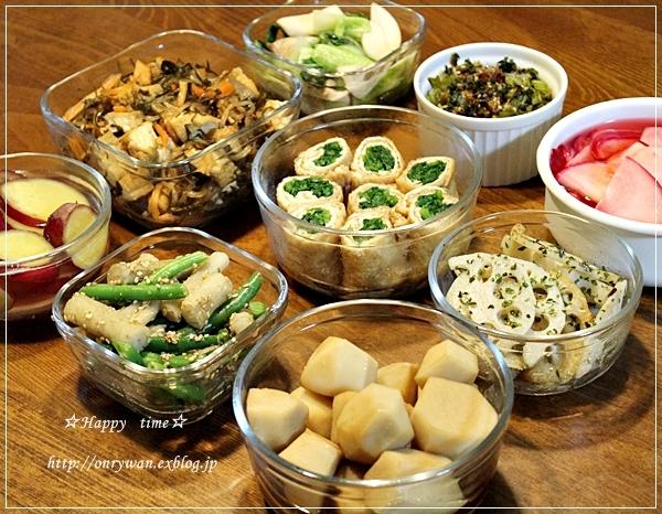 豚丼弁当と旬野菜で常備菜作り♪_f0348032_17422859.jpg