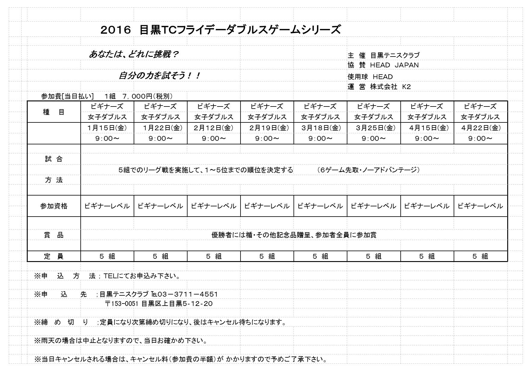 2016年1月~4月フライデートーナメント_b0158200_16273921.jpg