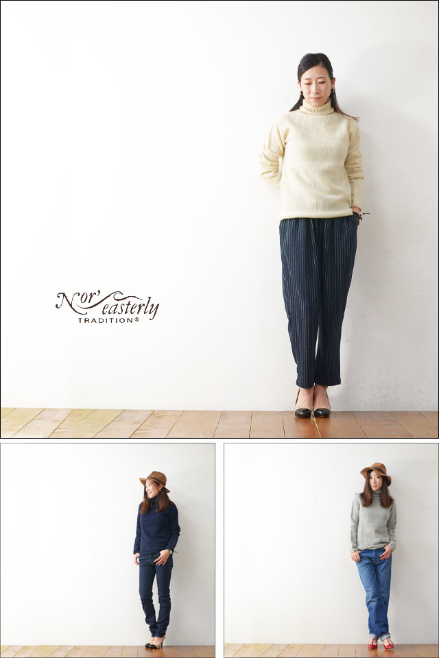 Nor\' easterly [ノアイースタンリー/ノーイーストリー] L/S TURTLE NECK [15-010] LADY\'S_f0051306_17010419.jpg