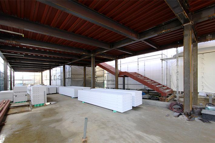 K幼稚園の増築工事が上棟しました。_a0212380_1131949.jpg