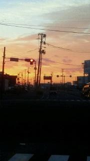朝焼け&週末の報告_f0168392_23101467.jpg