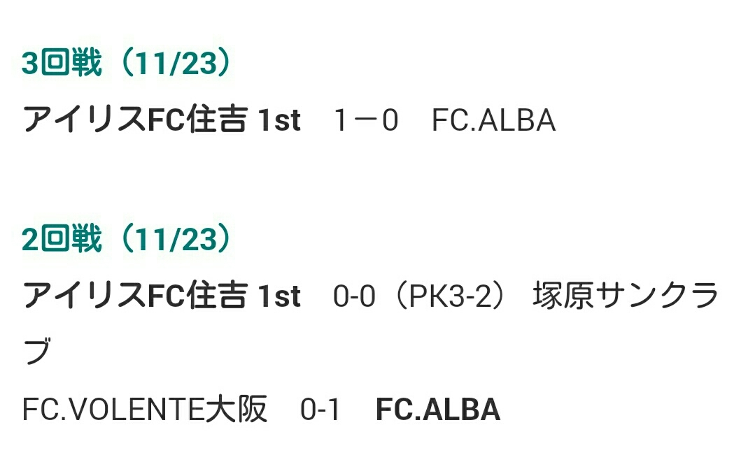 11月23日(月祝)  U12 全日本少年サッカー大会 大阪府予選 中央大会_f0138335_14170767.jpg