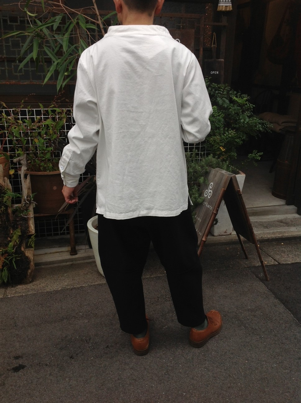 Yarmo Chefs Smock X MITTAN Wool Blacket Pants_e0248492_131665.jpg