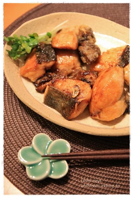 鮭と舞茸のガーリック醤油ソテー_f0179404_21301750.jpg