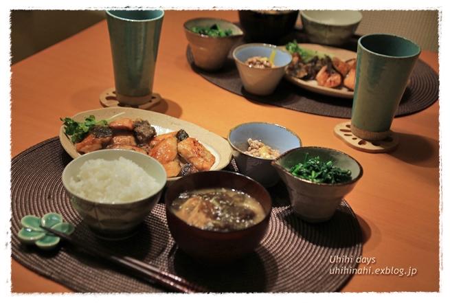 鮭と舞茸のガーリック醤油ソテー_f0179404_21315210.jpg