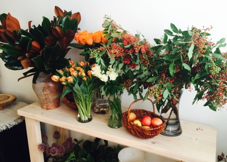 Flower Arrangement〜Thanksgiving Centerpiece_d0233672_16132434.jpeg