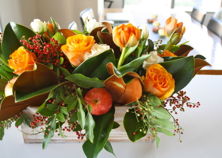 Flower Arrangement〜Thanksgiving Centerpiece_d0233672_16304001.jpg