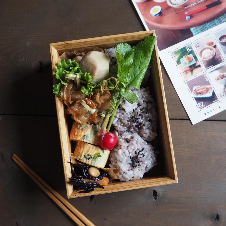 ベビーホタテの生姜煮弁当と和の食文化記念切手_c0270834_8214224.jpg