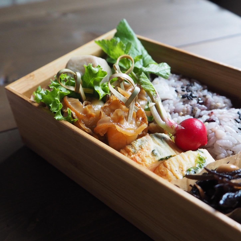 ベビーホタテの生姜煮弁当と和の食文化記念切手_c0270834_8235269.jpg