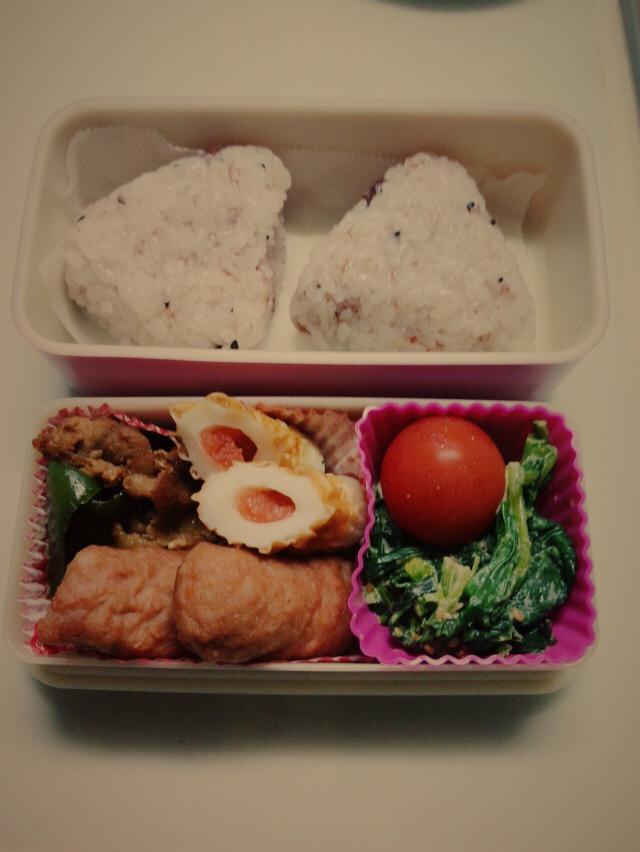 1年…たちました(*^^*)と〜本日のお弁当は。11/25_a0323249_11261985.jpg