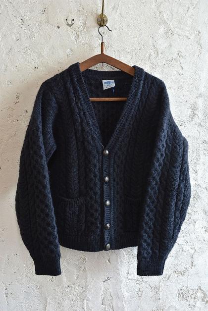 Aran knit cardigan over-dyed charcoal gray & black_f0226051_13320387.jpg